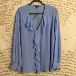 The Limited Flutter Front Button Down Blouse